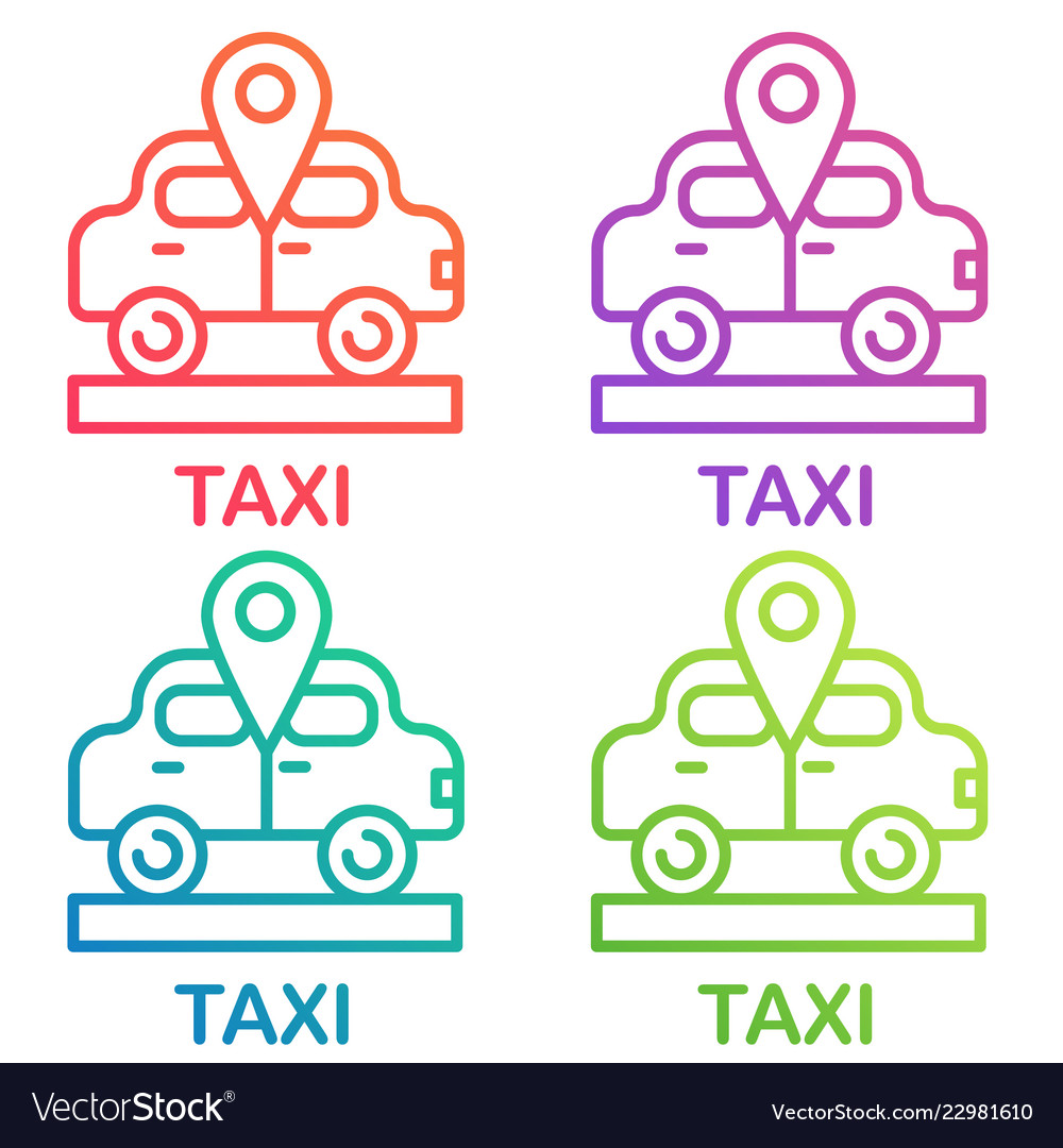 Taxi icon cab design logo taxi point gradient