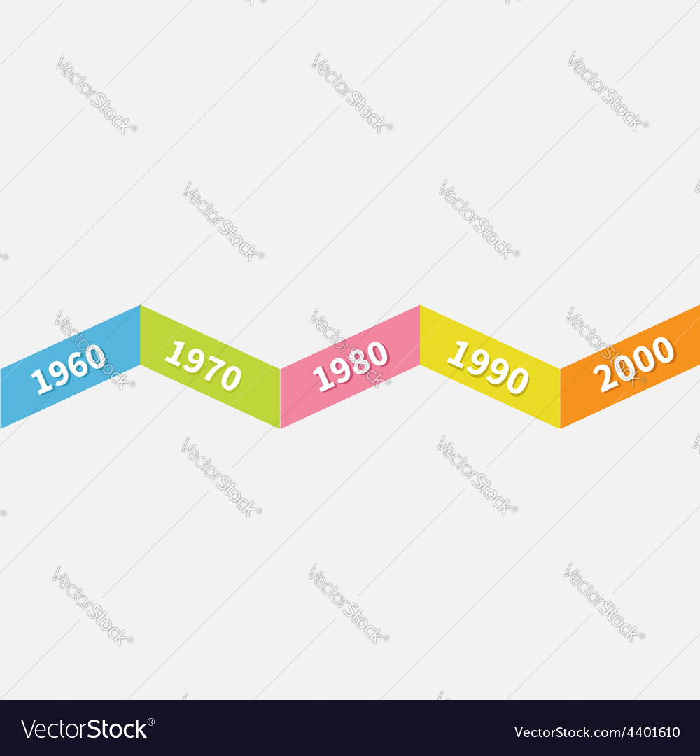 timeline infographic zigzag ribbon line template vector image