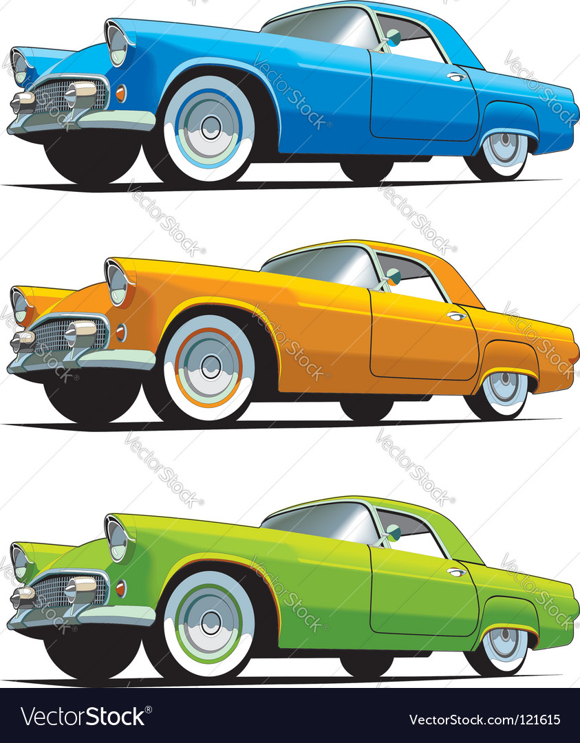 Old Fashioned Cars >> American Old Fashioned Car Royalty Free Vector Image