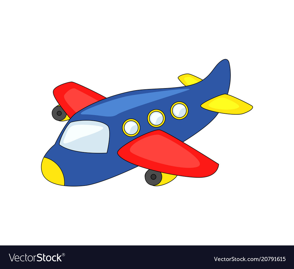 Cute Cartoon Airplane Royalty Free Vector Image