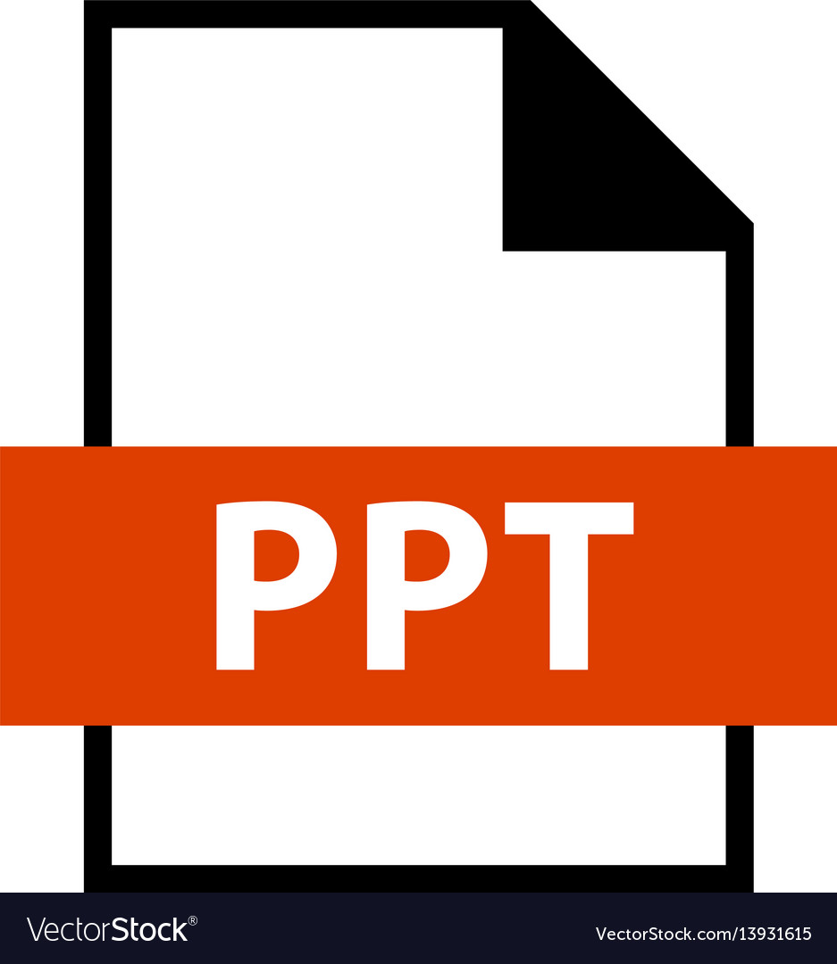 File name extension ppt type