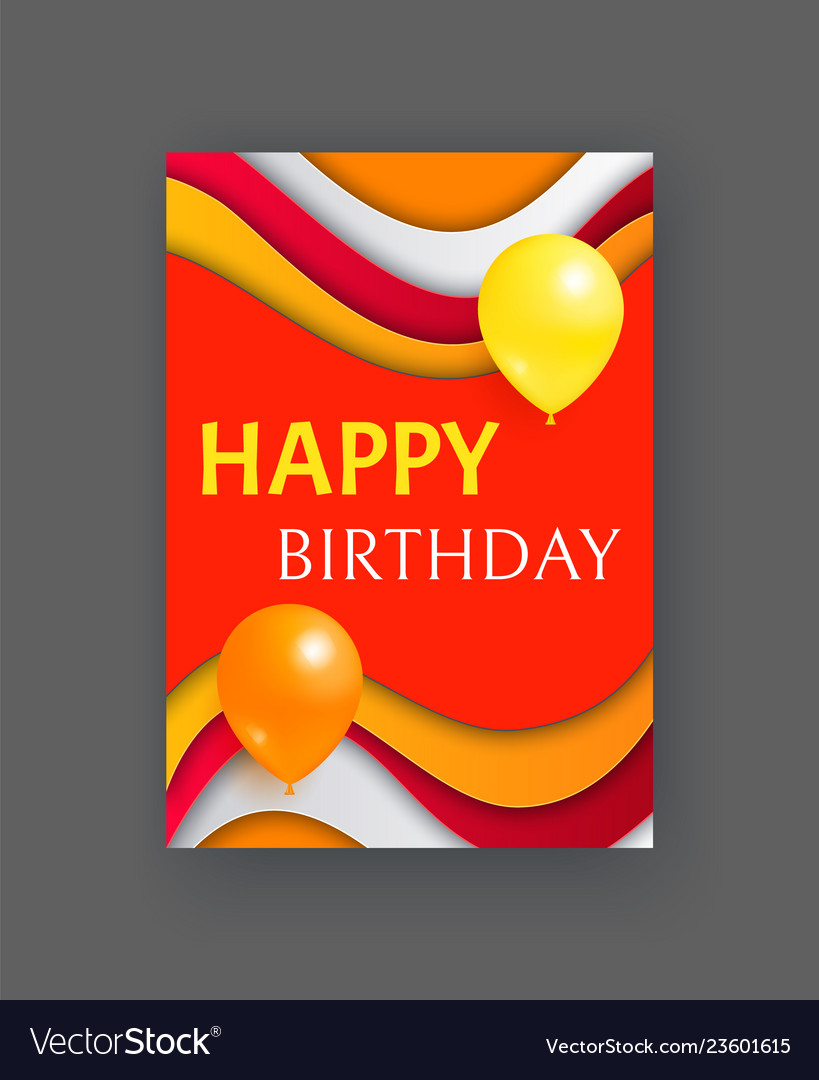 Happy birthday party invitation or greeting card