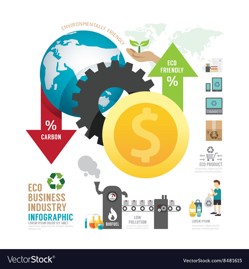 Infographic eco business industry concept