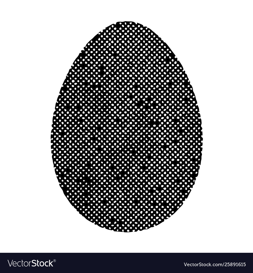 Old isolated egg