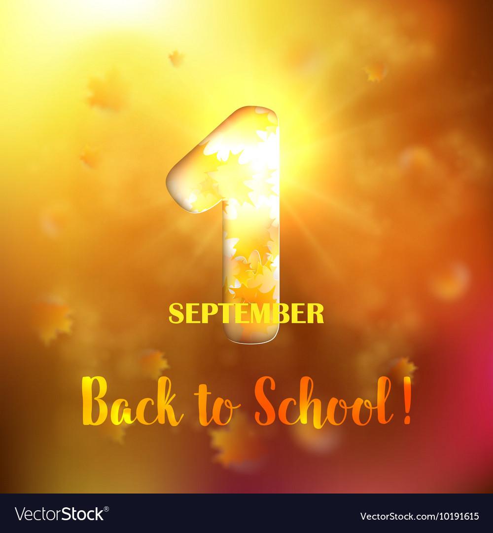 September 1st Back To School background