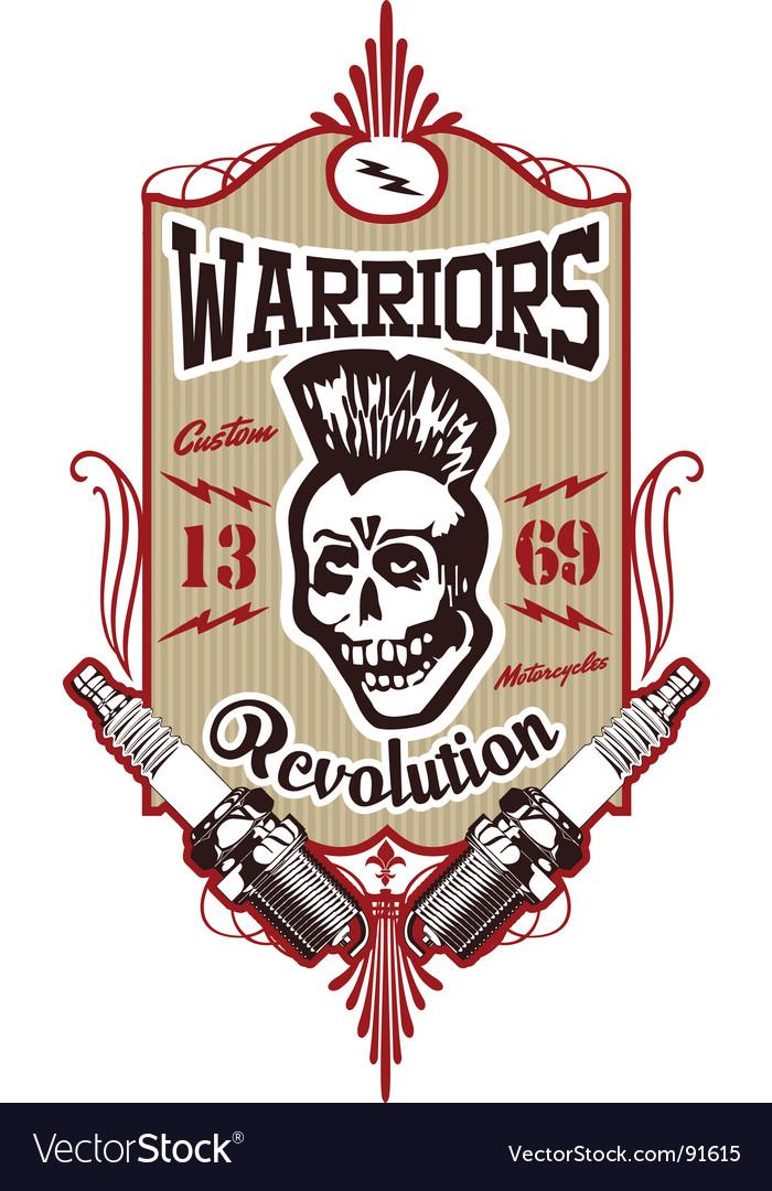 Skull Punk Warrior Vector. Artist: gepecto; File type: Vector EPS