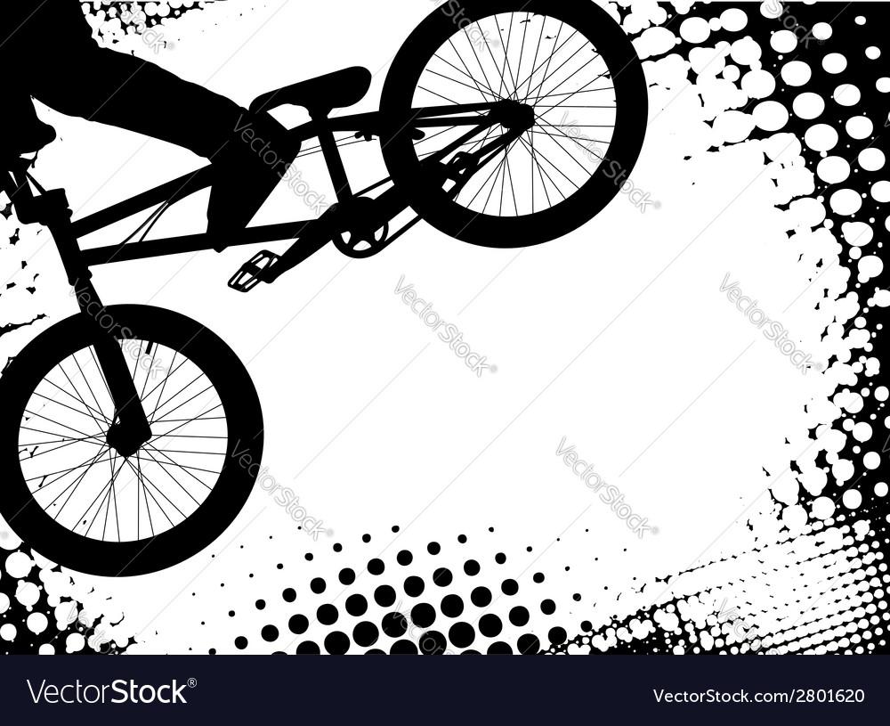 Bmx background vector image