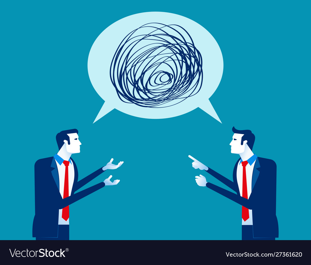 Business people talking nonsense speech concept Vector Image