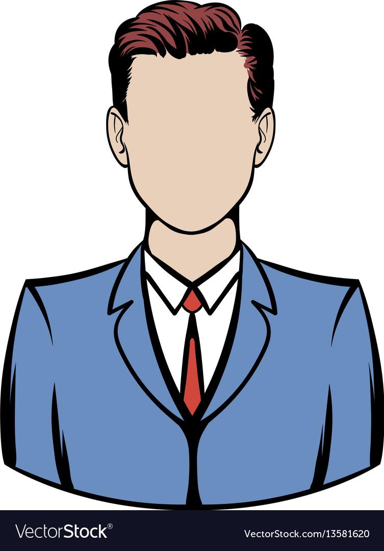 Businessman icon cartoon