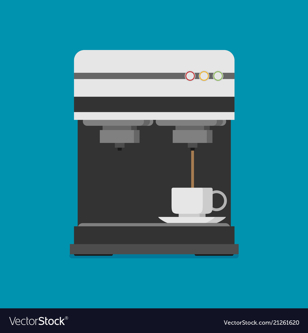 Flat coffee machine icon