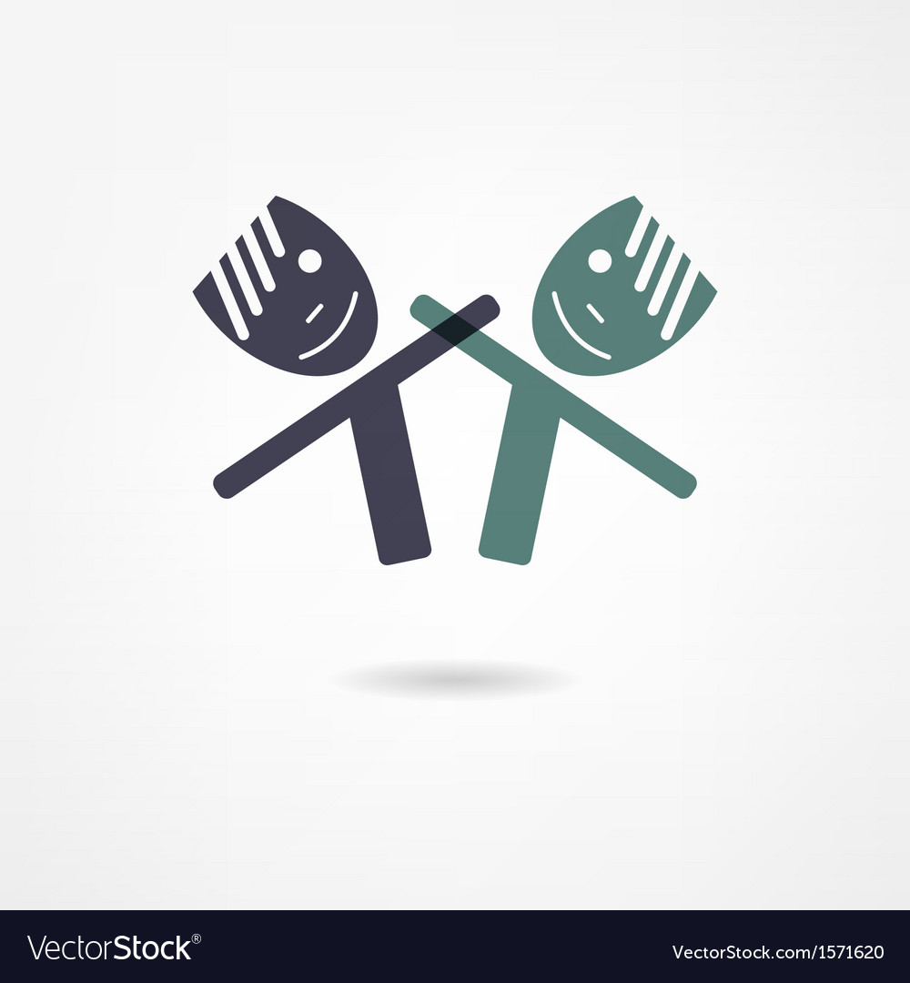 Friends icon vector image