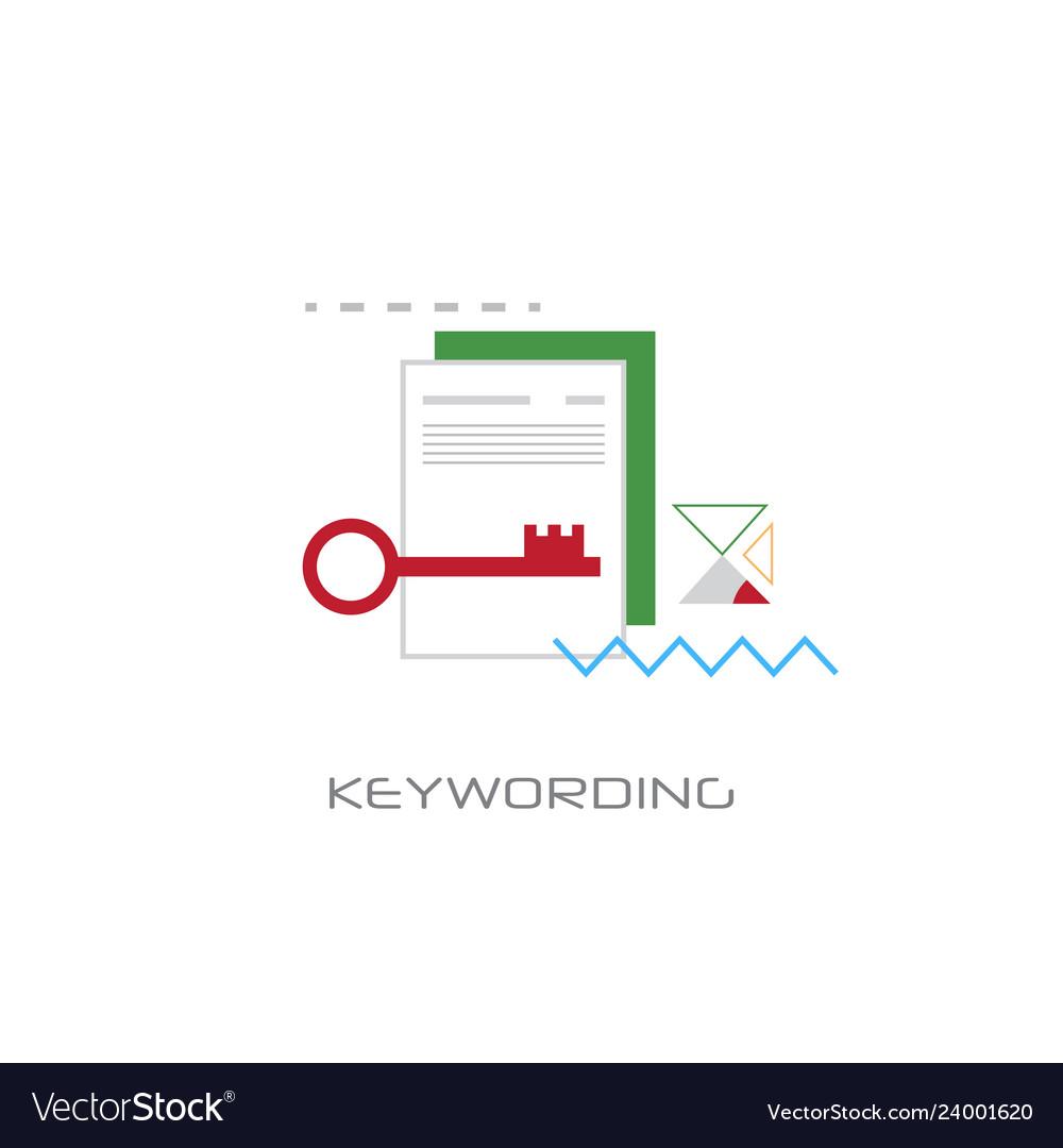 Keywording search web optimization white