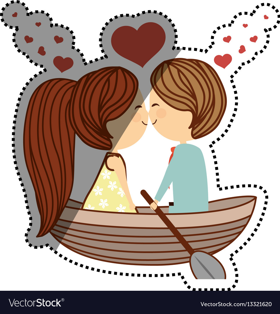 Lovely Couple Cartoon Royalty Free Vector Image