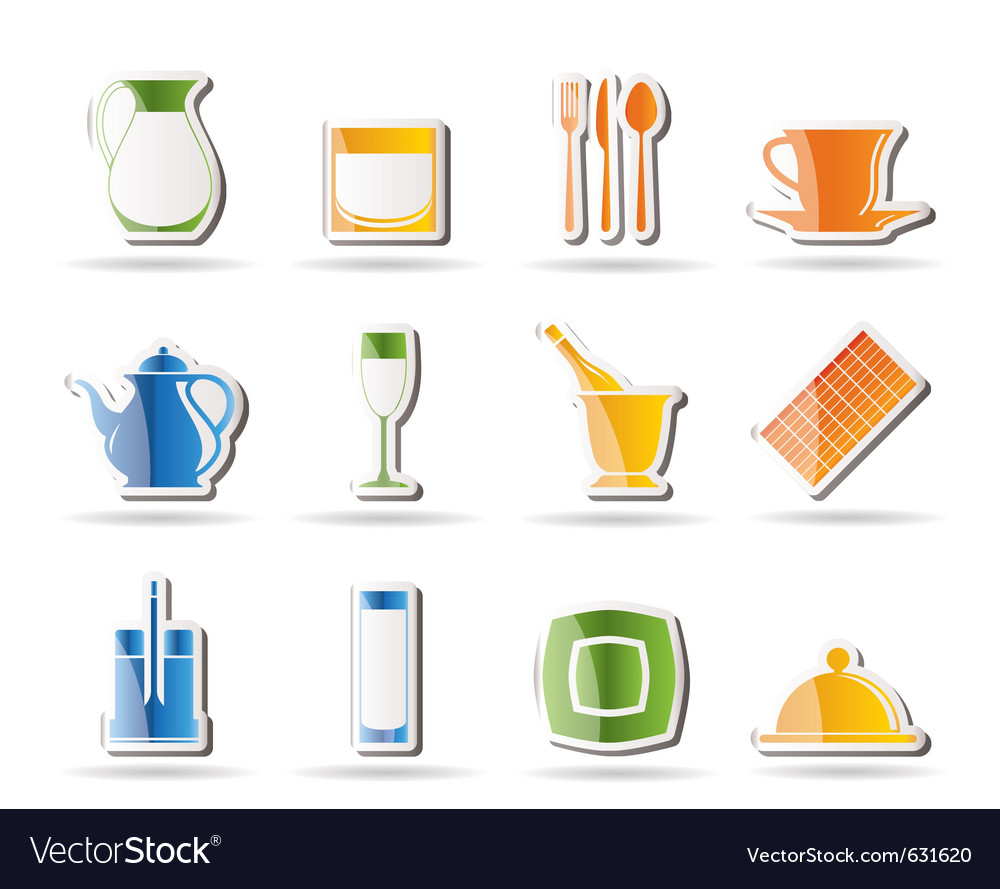 Restaurant and cafe icons - vecto