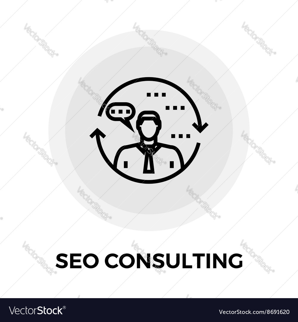 SEO Consulting Line Icon