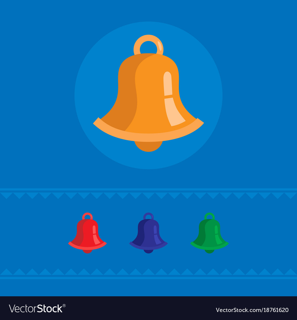 Set of colored bell icons