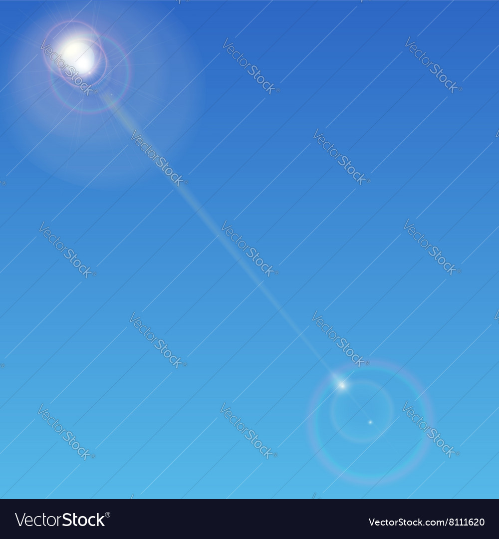 Sun with lens flare background