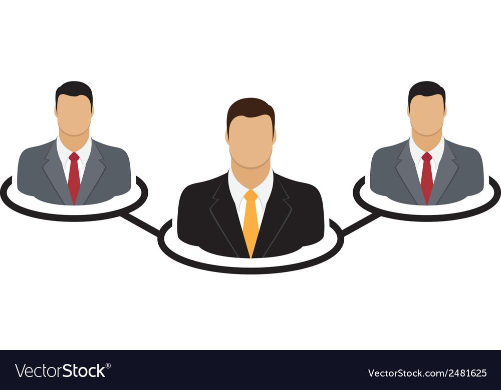 Corporate hierarchy concept