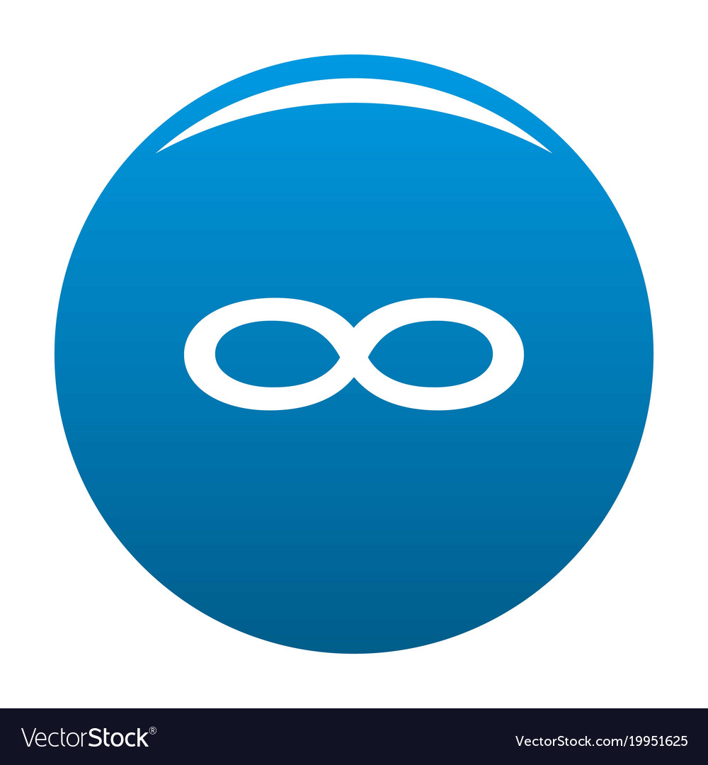 Infinity symbol icon blue vector image