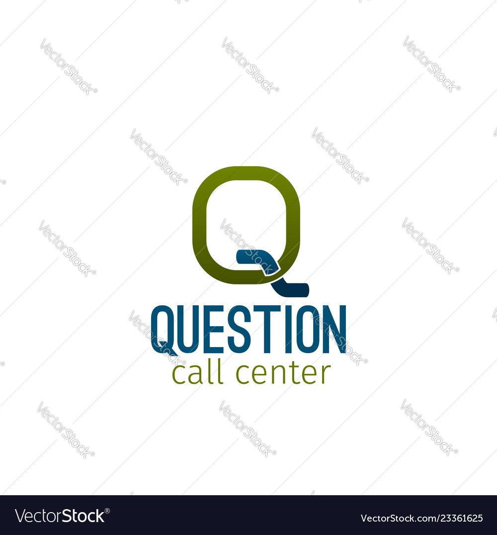 Question call center emblem
