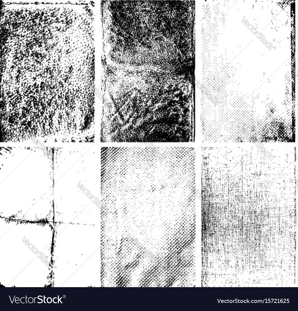 Set of the grunge textures isolated on white