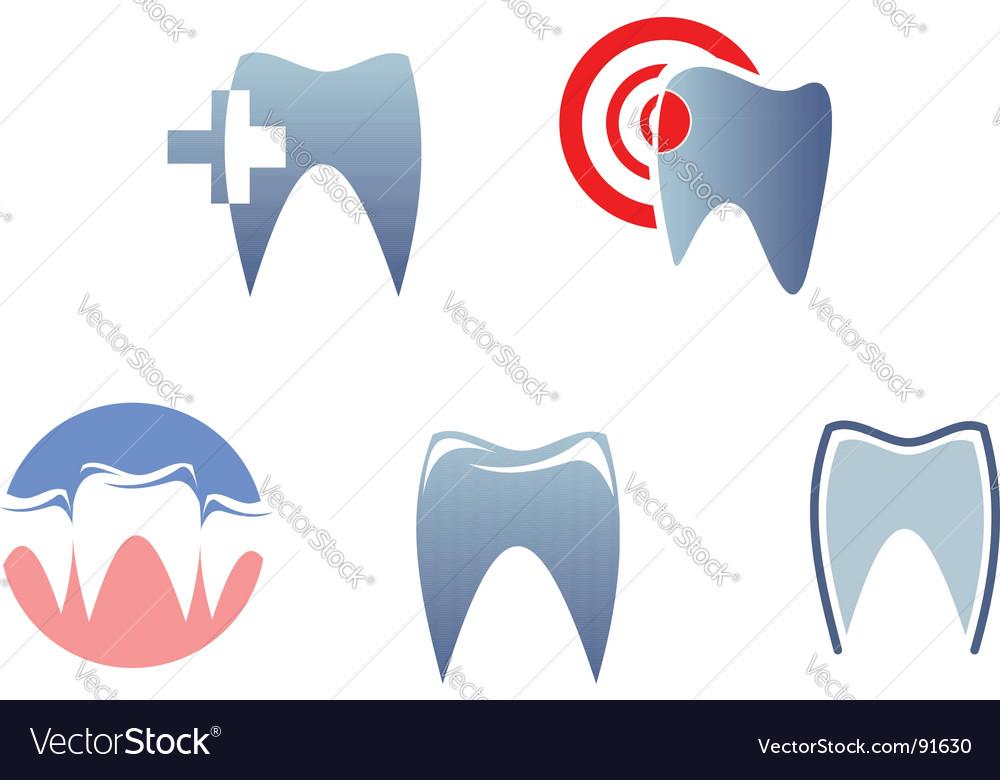 Dental signs vector image