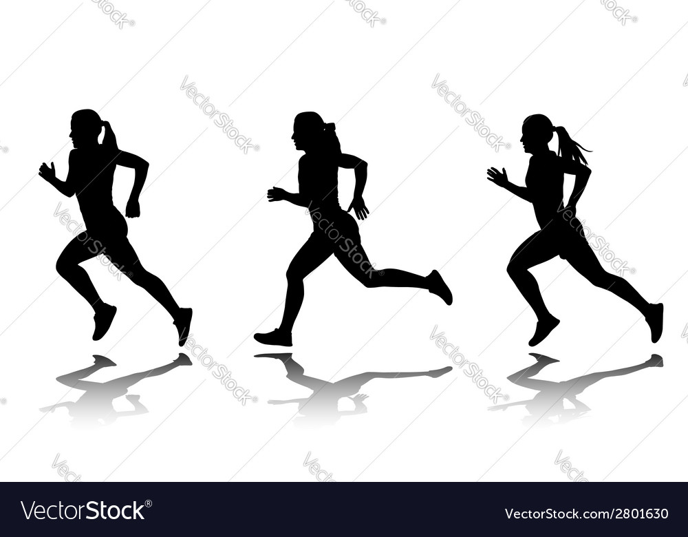 female runner royalty free vector image vectorstock rh vectorstock com runner vector icon runner vector free