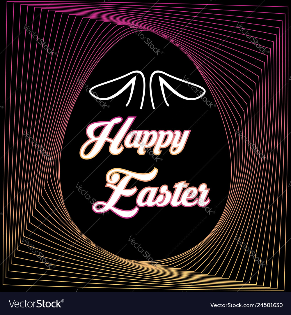 Happy easter calligraphy design for holiday