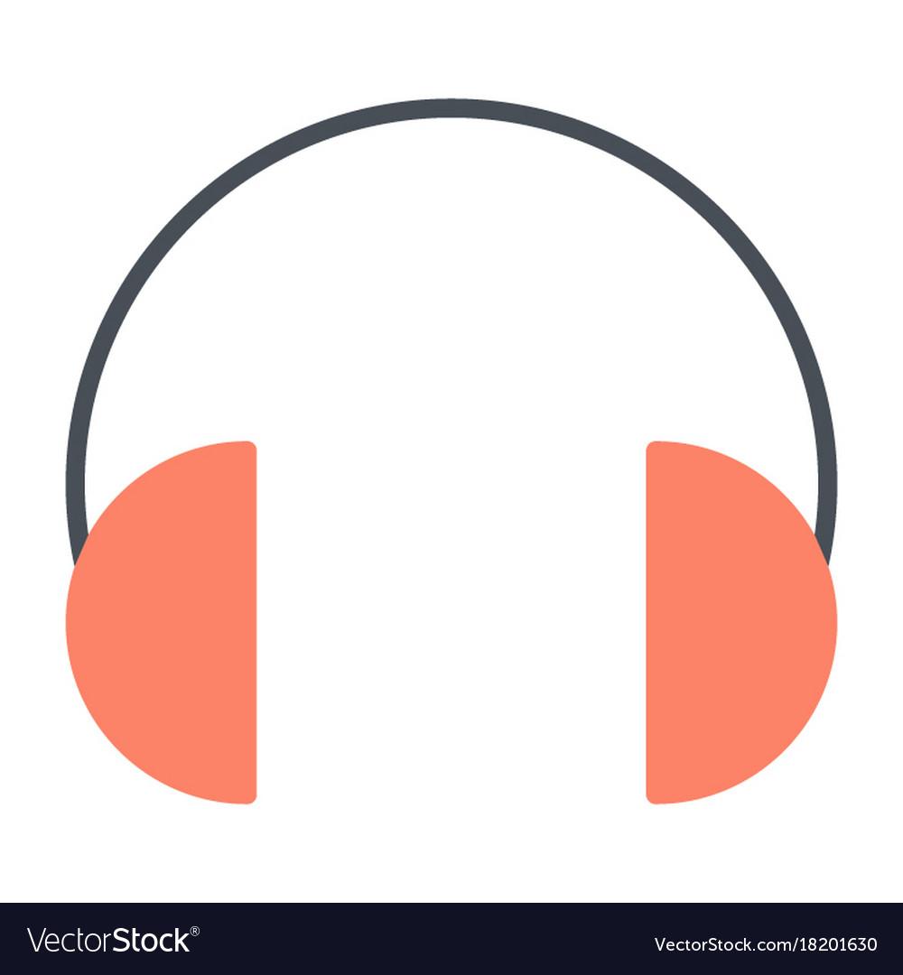 Headphones silhouette icon