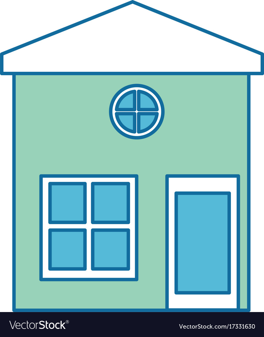 House exterior isolated icon