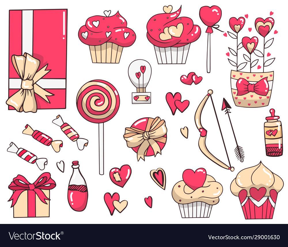 Set drawings for valentines day
