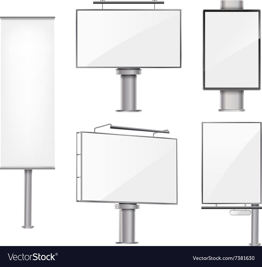 Set of advertising metallic blank