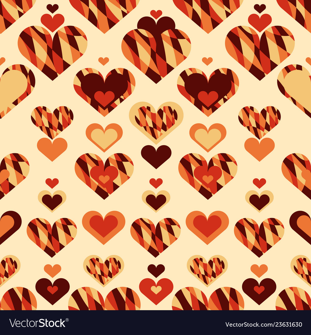 Simple seamless pattern with heart symbol eps 10