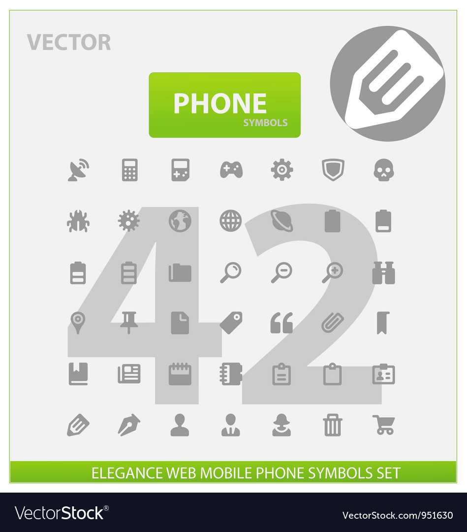 Web and phone universal outline icons