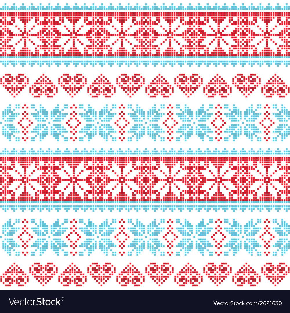 Winter Christmas seamless pixelated pattern