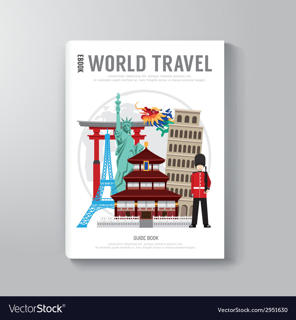 world travel business book template design vector image
