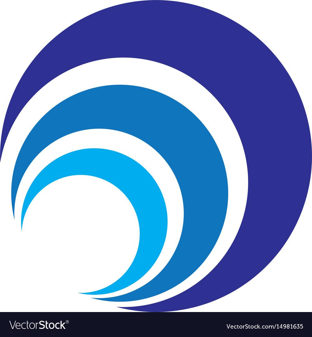 Abstract circle layer logo image