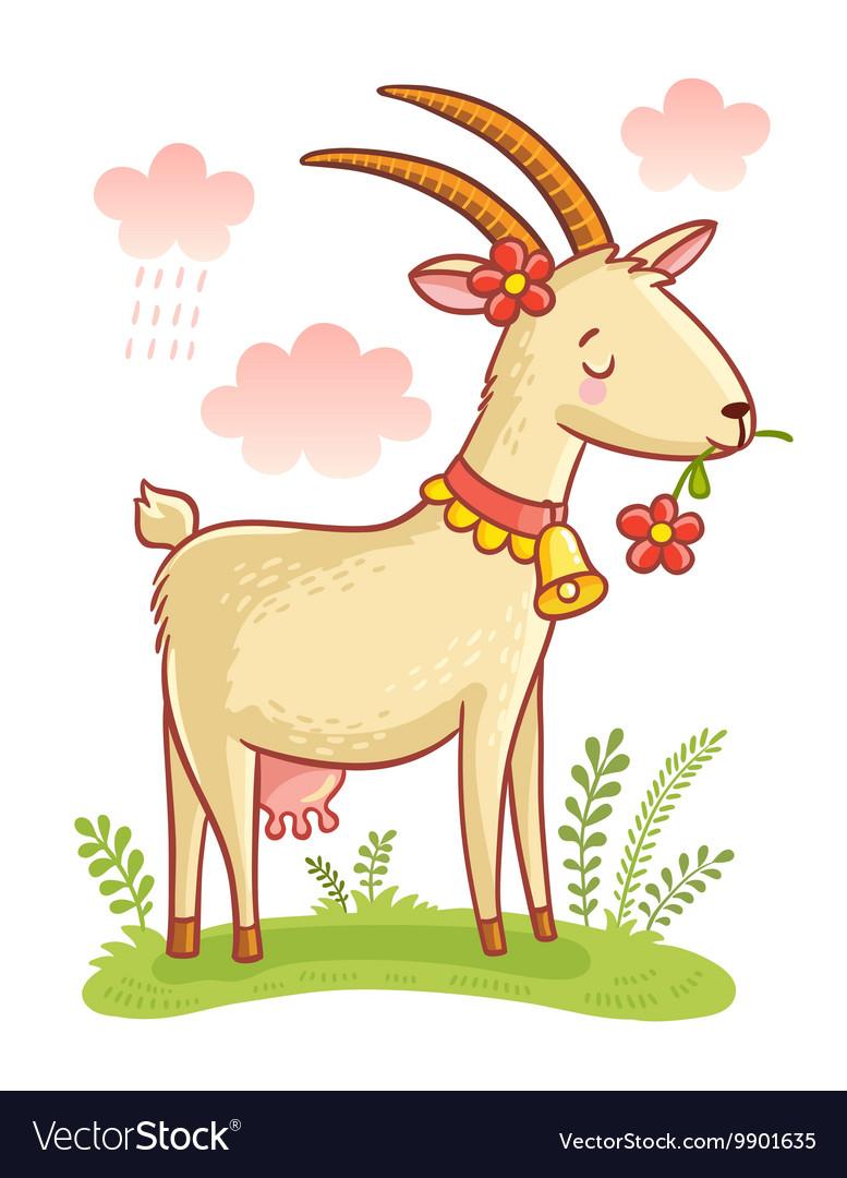 Cute Farm Animal Goat