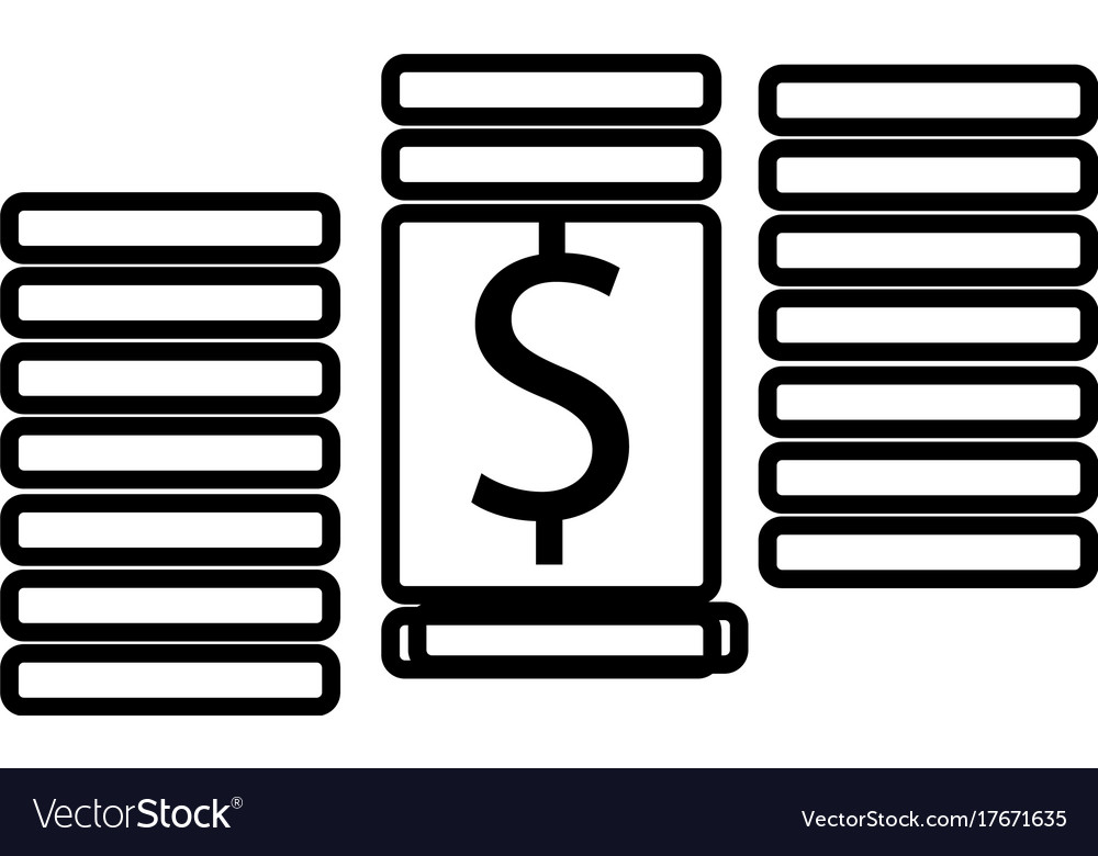 Dollar cent money icon vector image