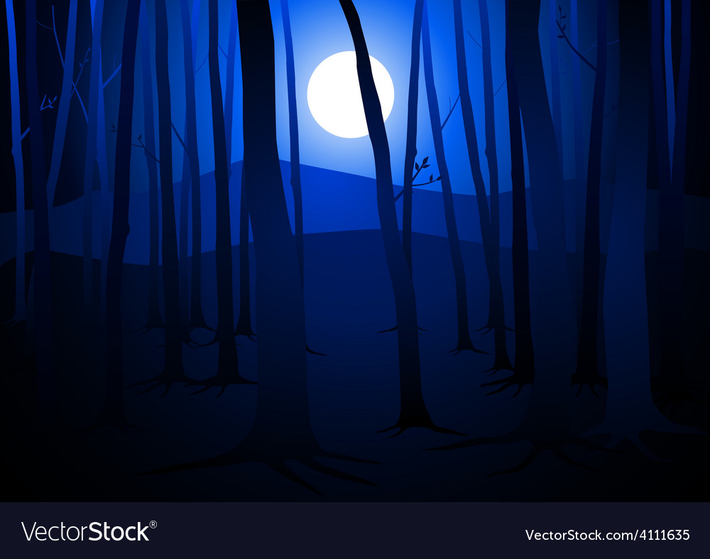 Full Moon Amongst Trees