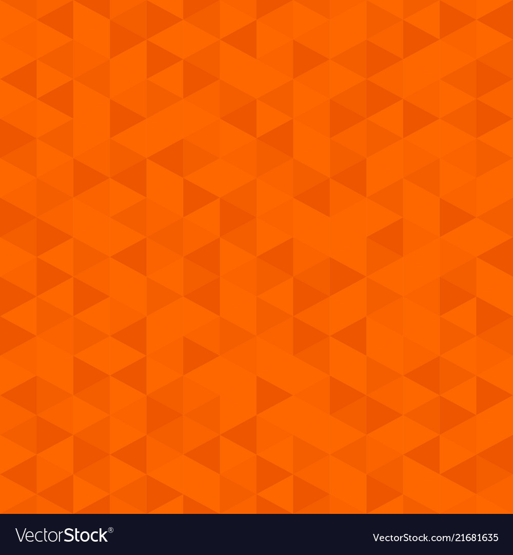 Orange color low poly background triangular