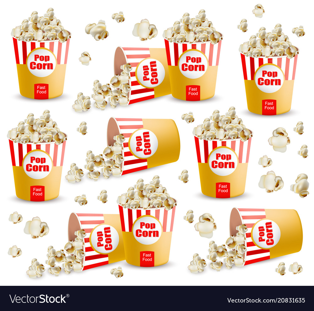 Popcorn pattern realistic 3d detailed