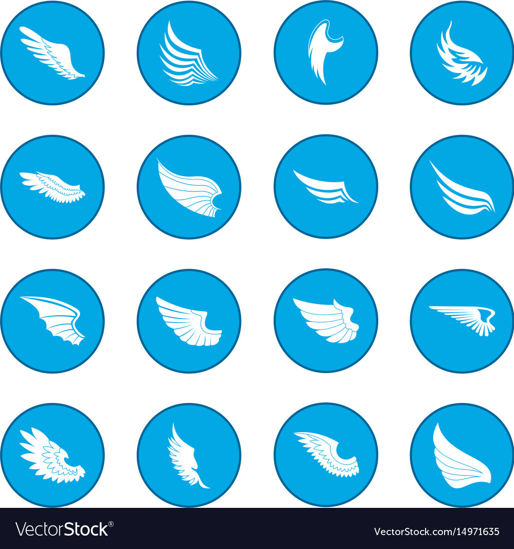 Wings icon blue