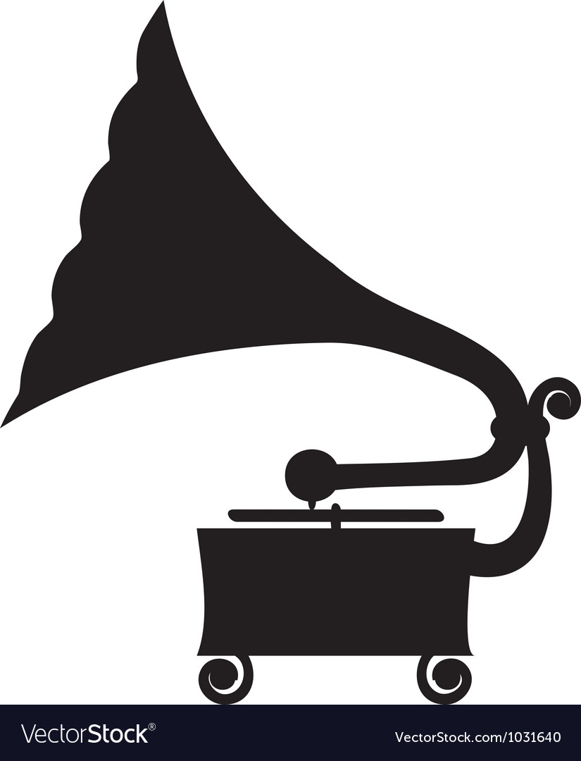 antique gramophone royalty free vector image vectorstock vectorstock