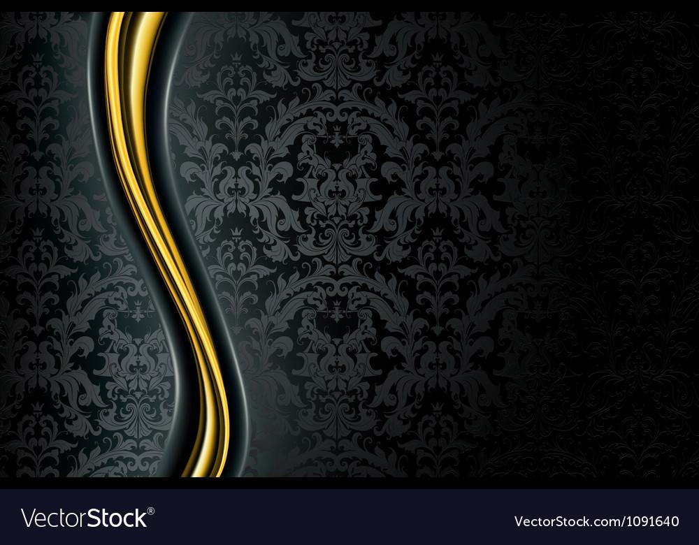 Black Luxury Background vector image