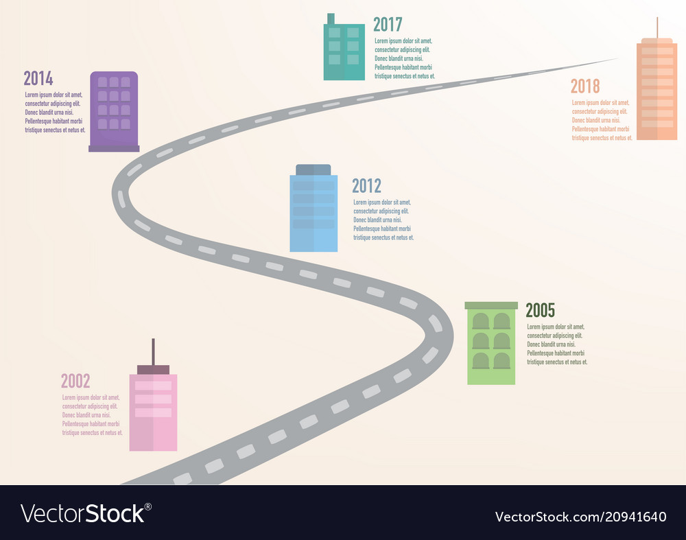 Business infographic element timeline step