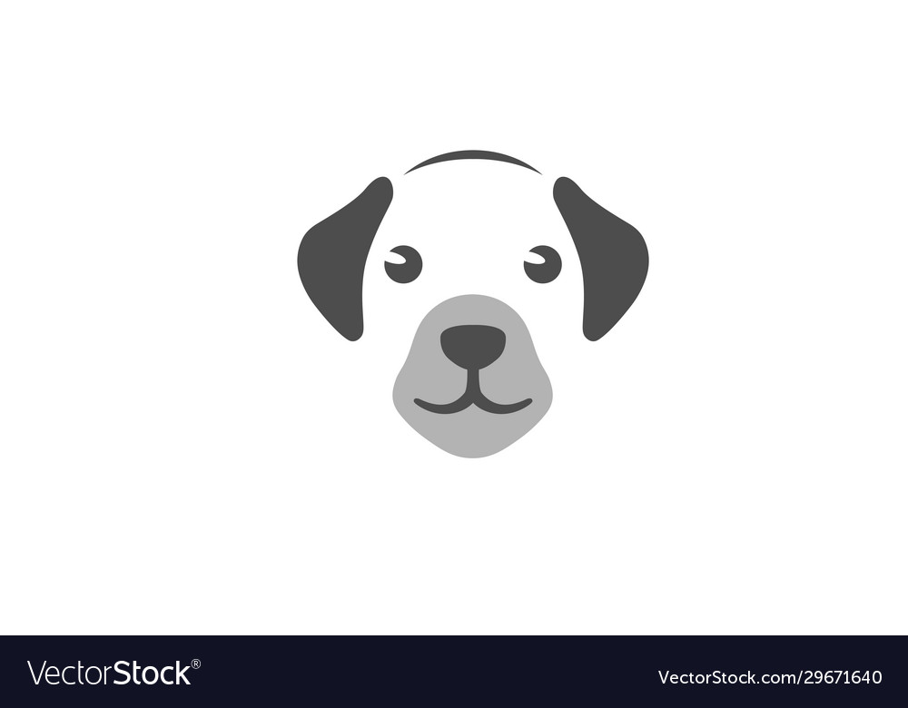 Creative pet head symbol logo