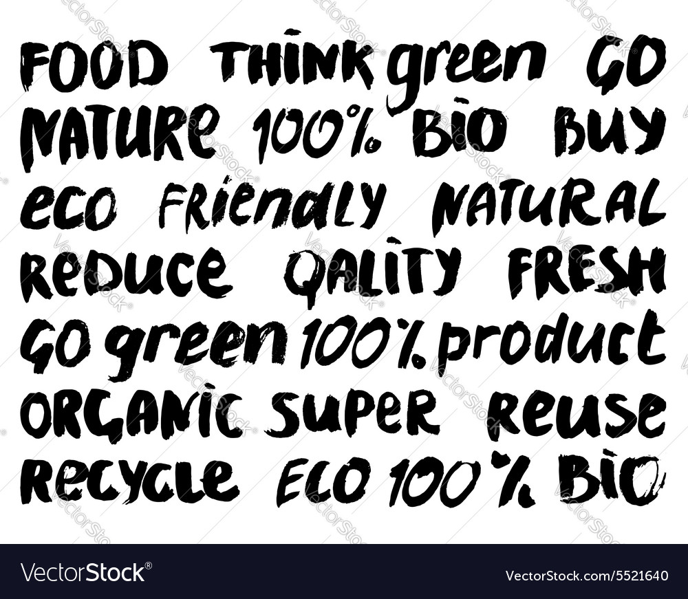 Eco lettering
