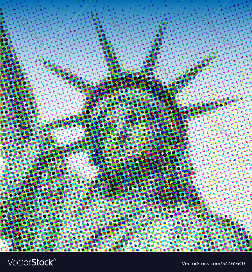 National icons statue liberty pixel art style