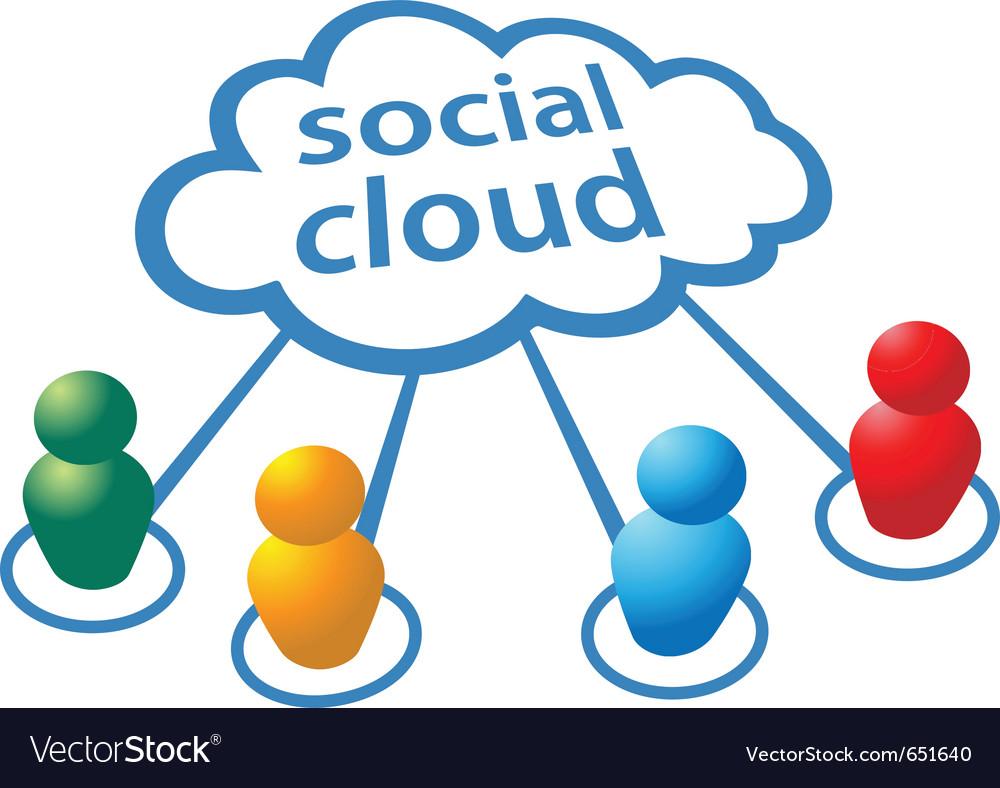 Social media people symbols vector image